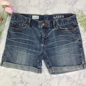 Gap Sexy Boyfriend Denim Cuffed Shorts  Sz 27